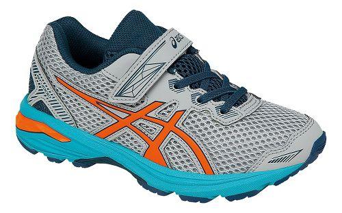 Kids ASICS GT-1000 5 Running Shoe - Grey/Orange 11C
