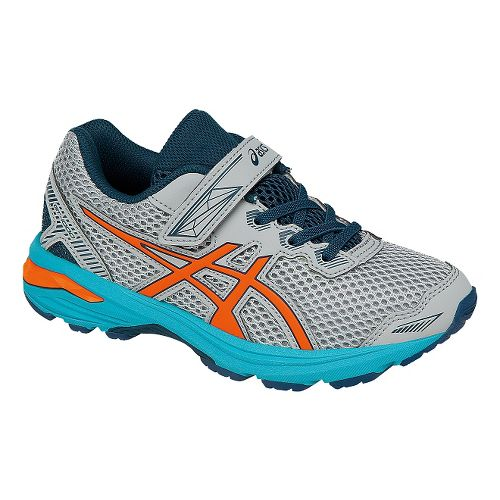 Kids ASICS GT-1000 5 Running Shoe - Grey/Orange 12C