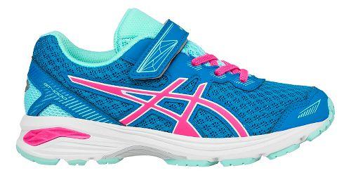 Kids ASICS GT-1000 5 Running Shoe - Blue/Pink 11C
