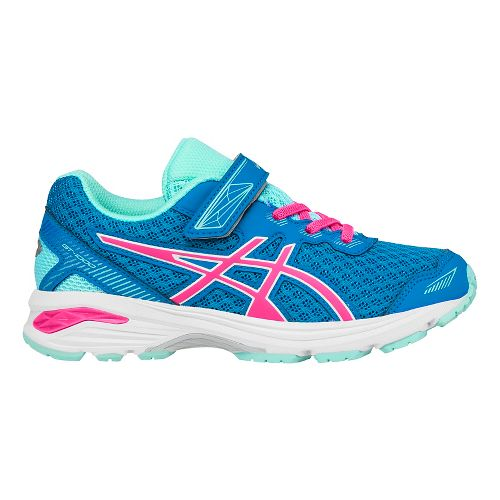 Kids ASICS GT-1000 5 Running Shoe - Blue/Pink 3Y