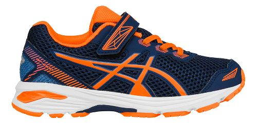 Kids ASICS GT-1000 5 Running Shoe - Blue/Orange 13C