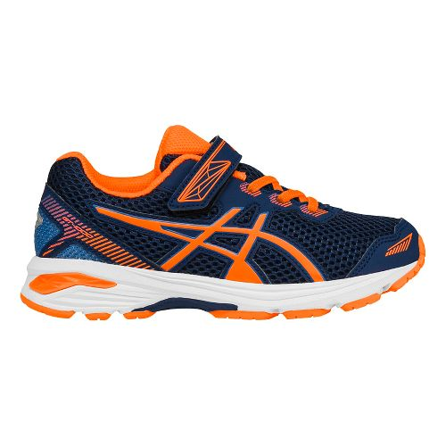 Kids ASICS GT-1000 5 Running Shoe - Blue/Orange 3Y