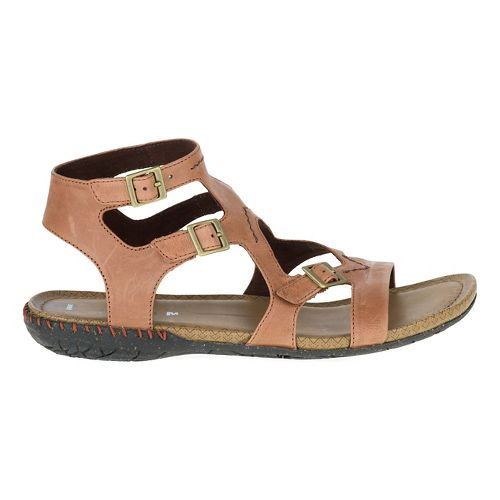 Womens Merrell Whisper Buckle Sandals Shoe - Tan 6