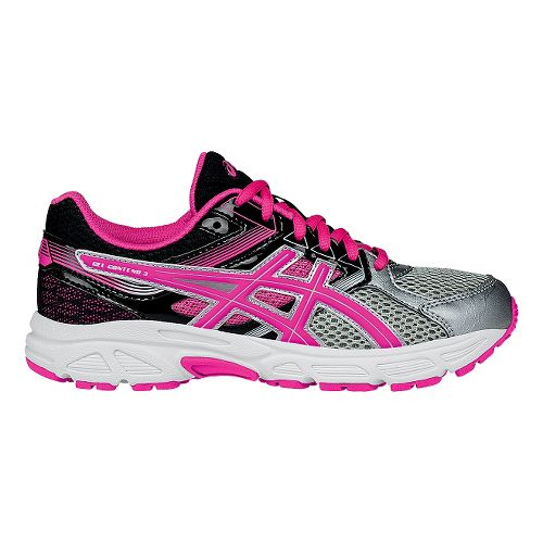 Kids ASICS GEL-Contend 3 Running Shoe - Silver/Pink 4Y