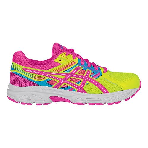 Kids ASICS GEL-Contend 3 Running Shoe - Yellow/Pink 3.5Y