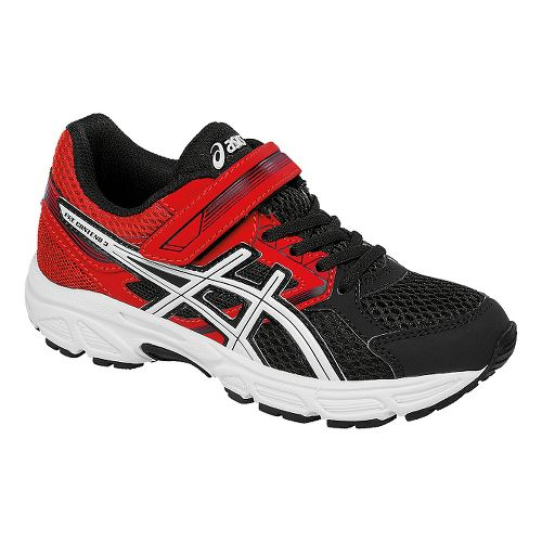Kids ASICS Pre-Contend 3 Running Shoe - Black/Red 1.5Y