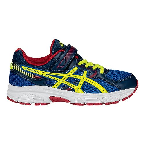 Kids ASICS Pre-Contend 3 Running Shoe - Royal/Yellow 3Y