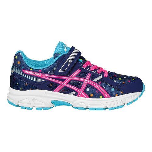 Kids ASICS Pre-Contend 3 Running Shoe - Indigo/Pink 2Y