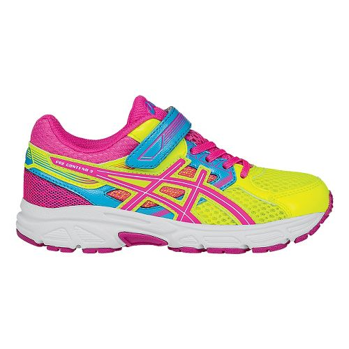 Kids ASICS Pre-Contend 3 Running Shoe - Yellow/Pink 1Y