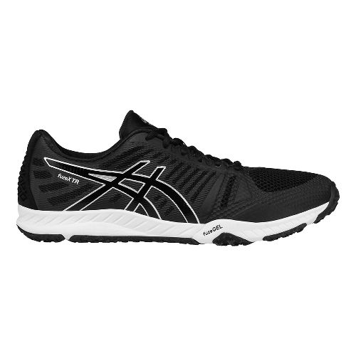 Mens ASICS fuzeX TR Cross Training Shoe - Black/Silver 6.5