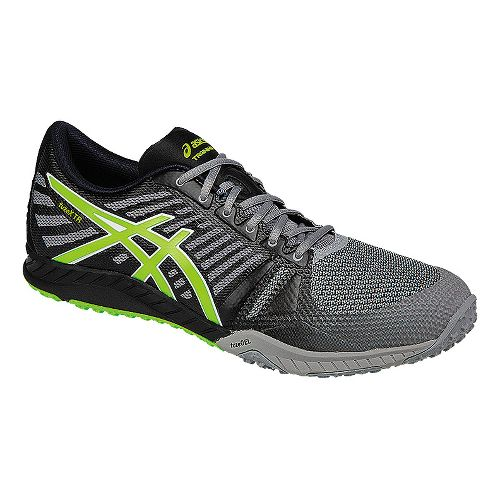 Mens ASICS fuzeX TR Cross Training Shoe - Grey/Green 9.5