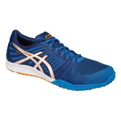 Mens ASICS fuzeX TR Cross Training Shoe - Blue/Orange 9