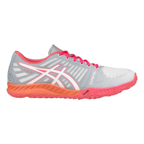 Womens ASICS fuzeX TR Cross Training Shoe - White/Pink 8.5