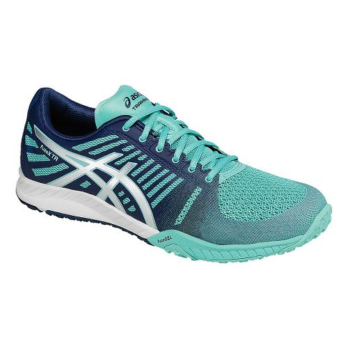 Womens ASICS fuzeX TR Cross Training Shoe - Mint/Navy 10.5