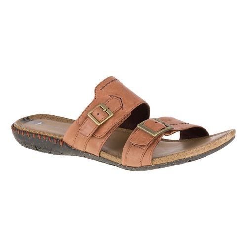 Womens Merrell Whisper Slide Sandals Shoe - Tan 6