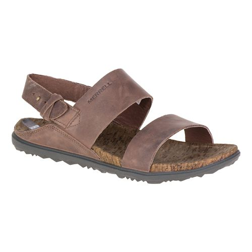 Womens Merrell Around Town Backstrap Sandals Shoe - Brown 5