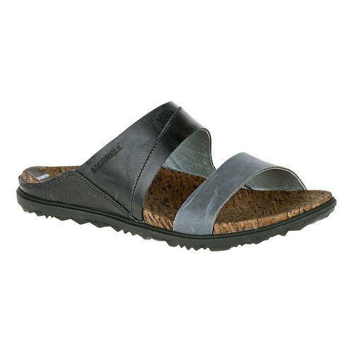Womens Merrell Around Town Slide Sandals Shoe - Black 6