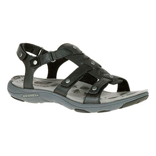 Womens Merrell Adhera Strap Sandals Shoe - Black 7