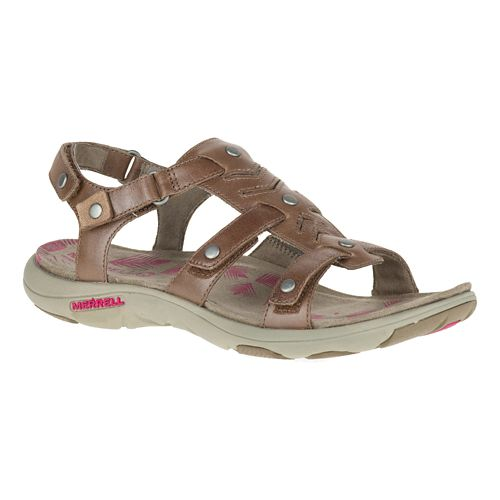 Womens Merrell Adhera Strap Sandals Shoe - Brown 8