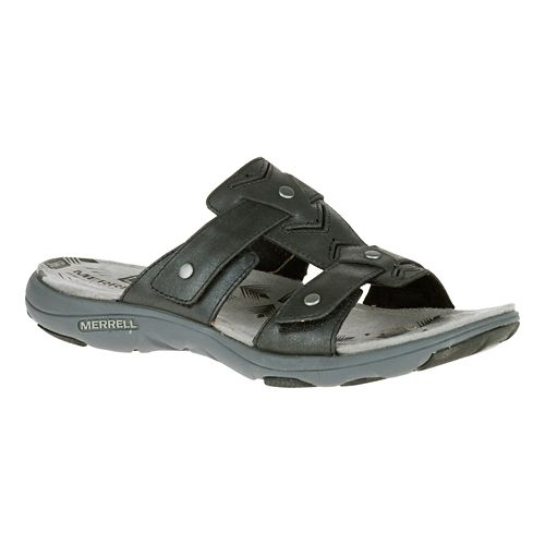 Womens Merrell Adhera Slide Sandals Shoe - Black 10