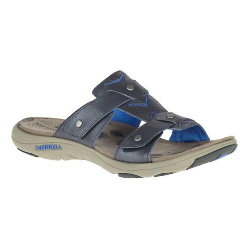 Womens Merrell Adhera Slide Sandals Shoe - Cement 6