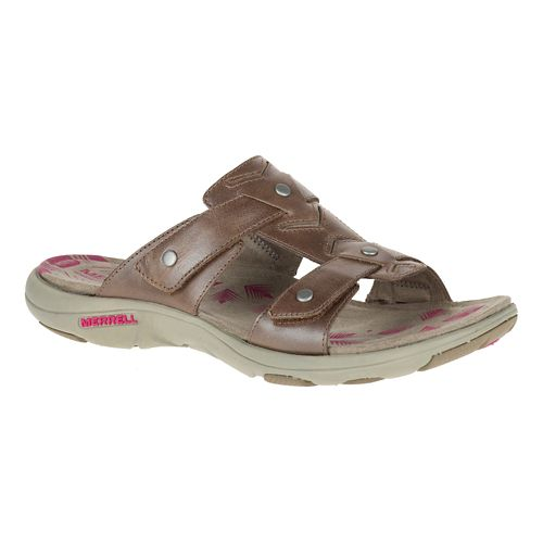 Womens Merrell Adhera Slide Sandals Shoe - Brown 10