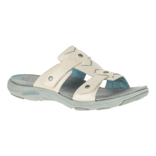 Womens Merrell Adhera Slide Sandals Shoe - Ivory 8