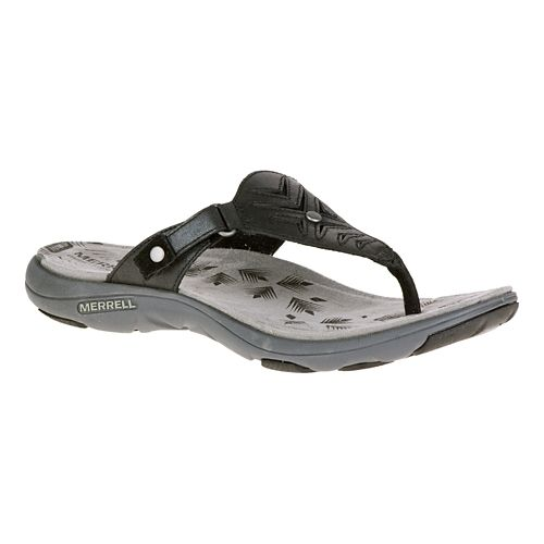 Womens Merrell Adhera Thong Sandals Shoe - Black 6