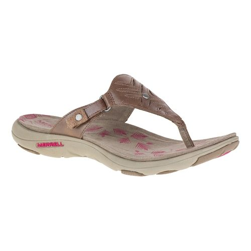 Womens Merrell Adhera Thong Sandals Shoe - Brown 8