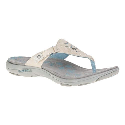 Womens Merrell Adhera Thong Sandals Shoe - Ivory 8