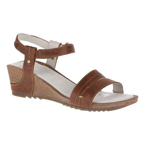 Womens Merrell Revalli Aura Strap Sandals Shoe - Dark Tan 10