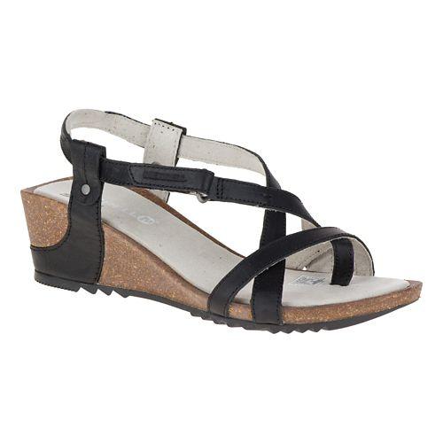 Womens Merrell Revalli Aura Post Sandals Shoe - Black 9