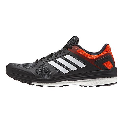 Mens adidas Supernova Sequence 9 Running Shoe - Black/White/Orange 8