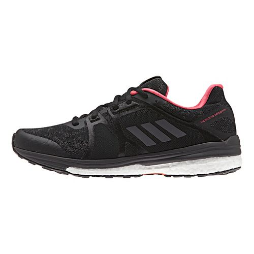 Womens adidas Supernova Sequence 9 Running Shoe - Black/Metallic 9.5