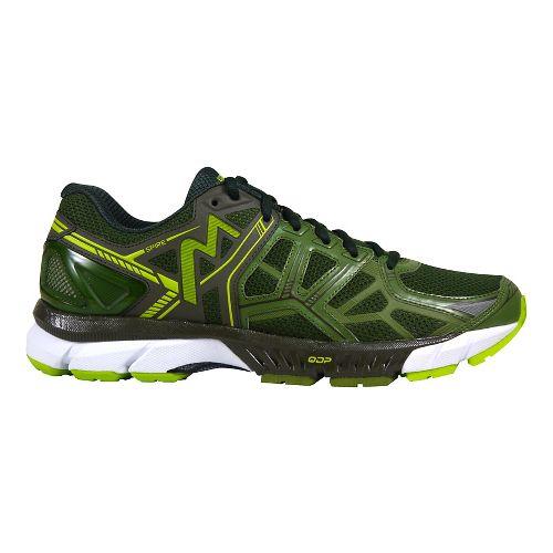 Mens 361 Degrees Spire Running Shoe - Cedar Green/Lime 10.5