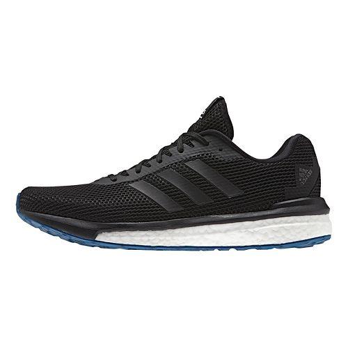 Mens adidas Vengeful Running Shoe - Black/Black 13