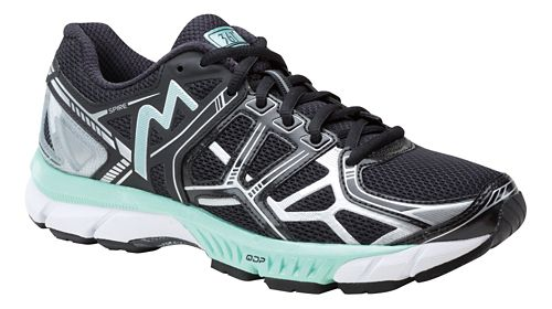 Womens 361 Degrees Spire Running Shoe - Black/Silver 9