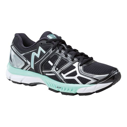 Womens 361 Degrees Spire Running Shoe - Black/Silver 8