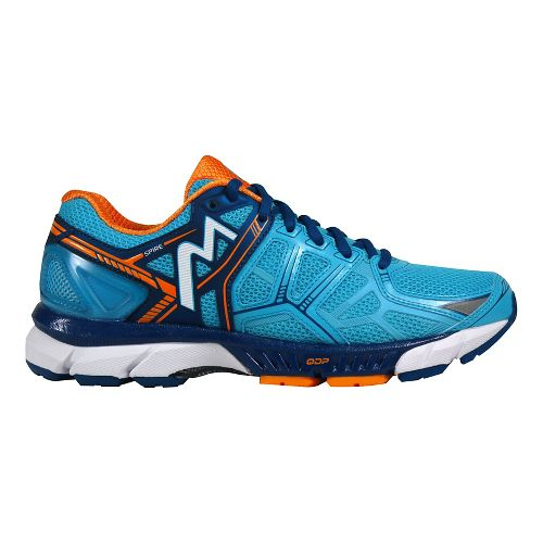 Womens 361 Degrees Spire Running Shoe - Aqua Blue/Marigold 10