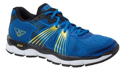 Mens 361 Degrees Shield Running Shoe - Blue/Yellow 14