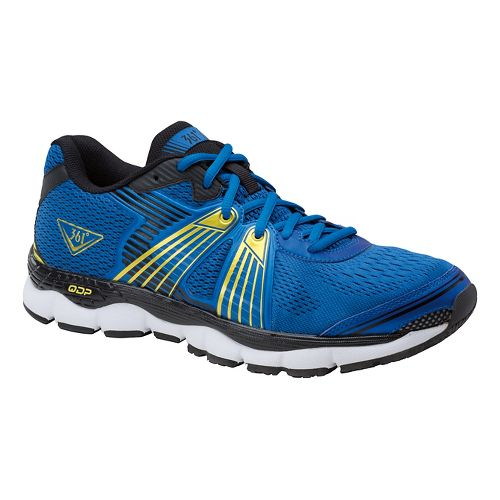 Mens 361 Degrees Shield Running Shoe - Blue/Yellow 10