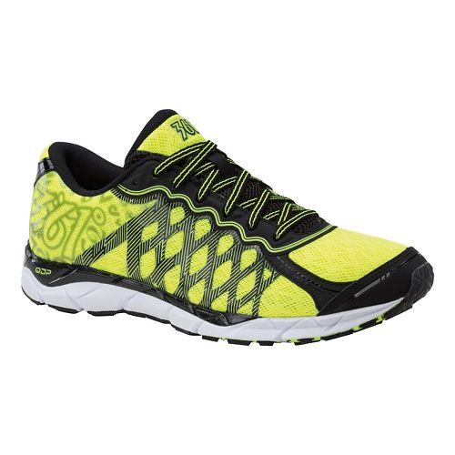 Mens 361 Degrees KgM2 Running Shoe - Black/Flash Yellow 9.5