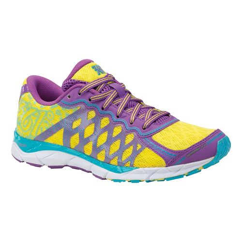 Womens 361 Degrees KgM2 Running Shoe - Dewberry/Yellow 9.5