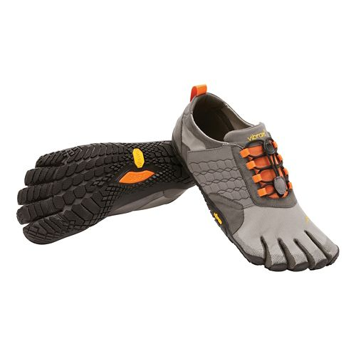Mens Vibram FiveFingers  Trek Ascent Trail Running Shoe - Grey/Black 42