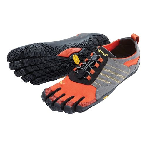 Mens Vibram FiveFingers  Trek Ascent Trail Running Shoe - Grey/Red/Black 42