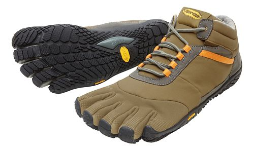 Mens Vibram FiveFingers Trek Ascent Insulated Trail Running Shoe - Khaki/Orange 44