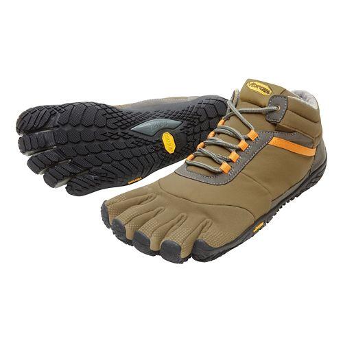 Mens Vibram FiveFingers Trek Ascent Insulated Trail Running Shoe - Khaki/Orange 40