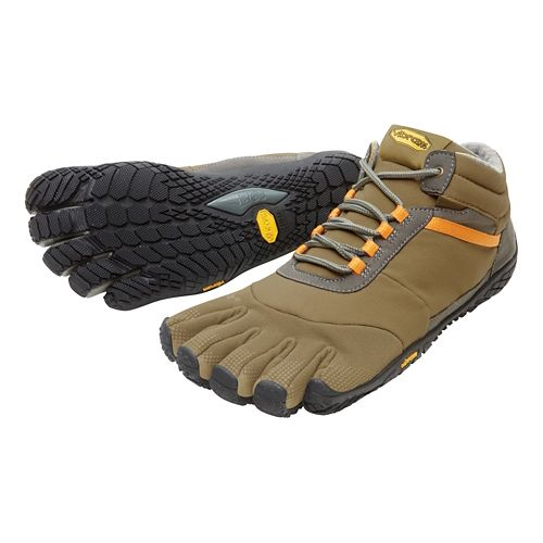 Mens Vibram FiveFingers Trek Ascent Insulated Trail Running Shoe - Khaki/Orange 42