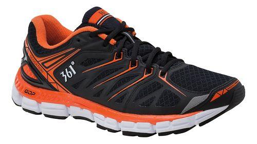 Mens 361 Degrees Sensation Running Shoe - Black/Red Orange 11.5