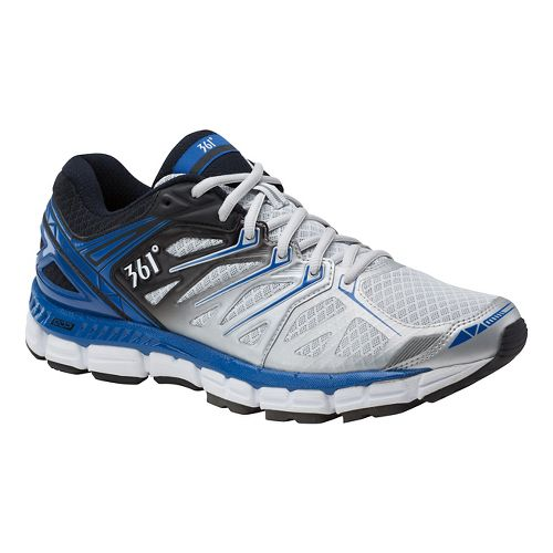 Mens 361 Degrees Sensation Running Shoe - Grey/Black 10.5